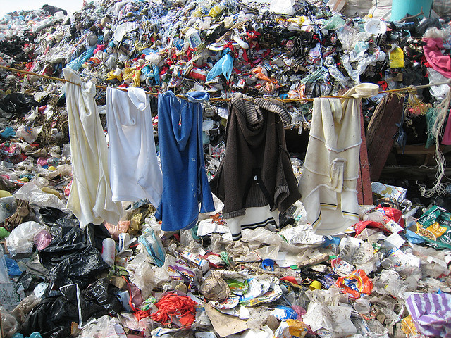clothes landfill fast fashion environment sustainability