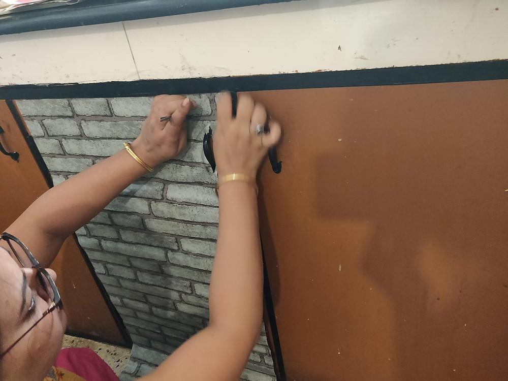 Wallpaper Decals Self adhesive wardrobe makeover