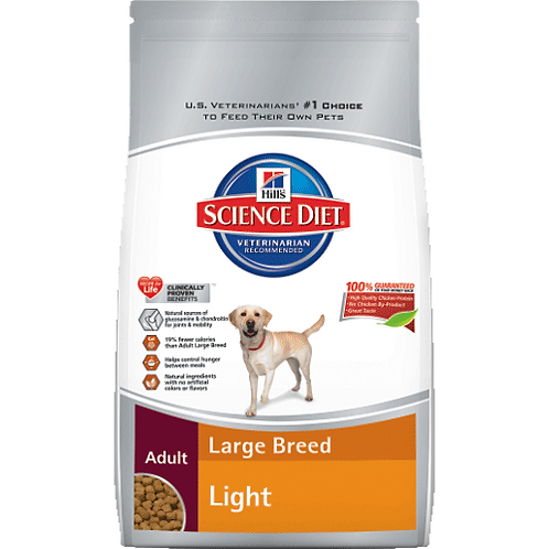 Large Breed Light Adult Dog Food 17.5lb