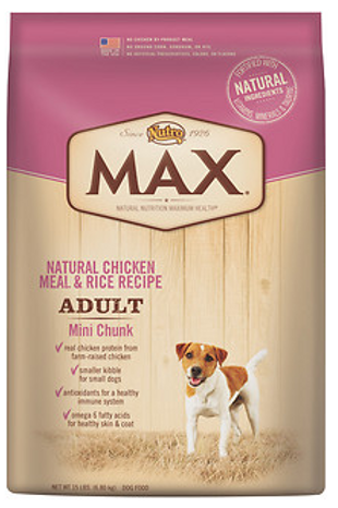 Nutro Max Mini Chunk Adult Food 15lb