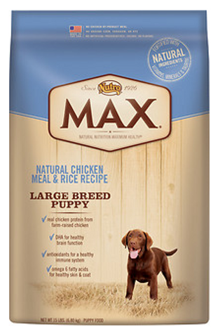 Nutro Max Large Breed Puppy Food 15lb