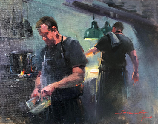 Busy kitchen
