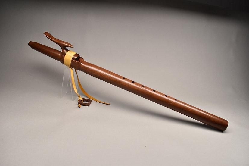 Walnut Native American style flute  Key Dm4