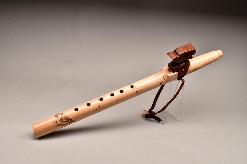 Native American style flute Key B flat