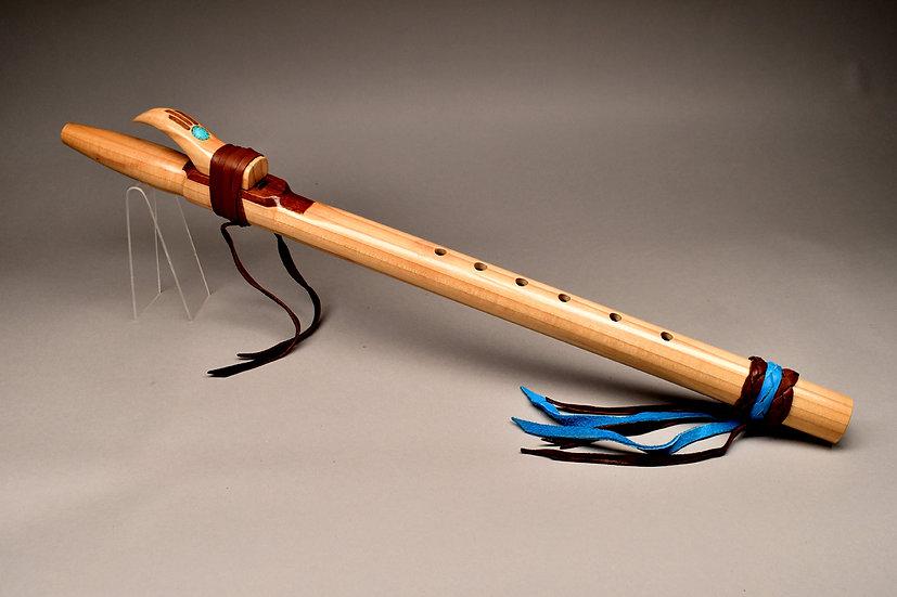 Poplar Native American style flute Key F