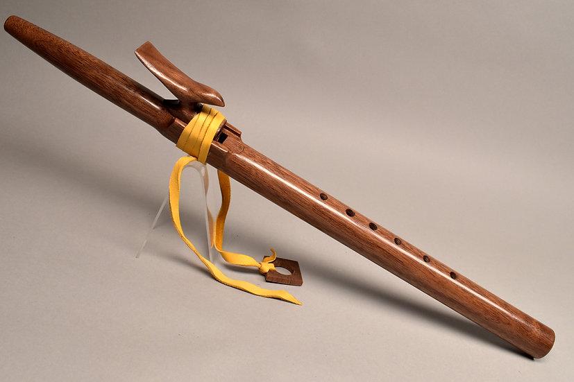 Walnut Native American style flute KeyA#/Bb
