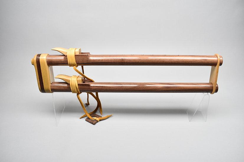 Walnut drone Native American style flute Key G