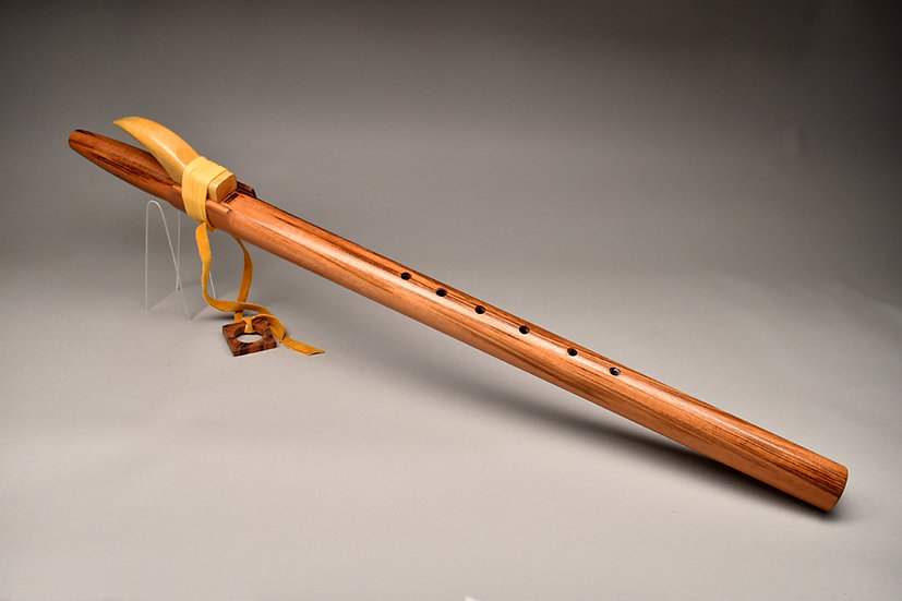Tiger rosewood Native American style flute  Key Dm4