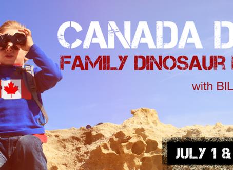 Canada Day Family Dinosaur Hunt