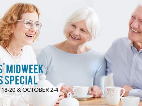 Seniors' Getaway Dates are set for Fall