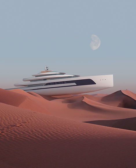 Kiwa superyacht by Isaac Burrough Design. Image by KVANT-1.