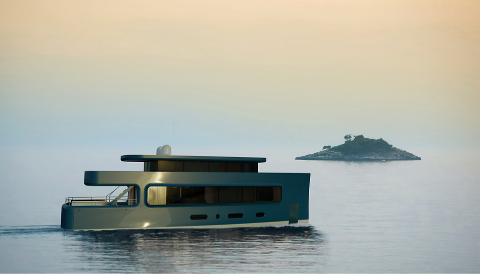 28 metre motor yacht concept by Isaac Burrough Design