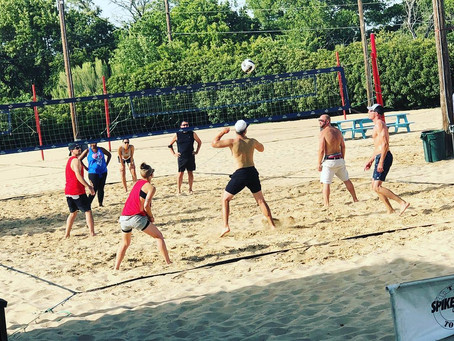 Volleyball with the BMF Project, on a hot summer day!