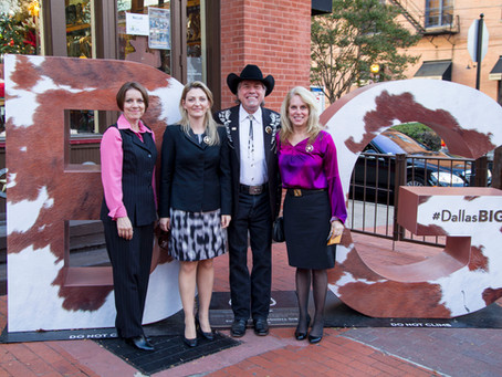 WILD BILL HOST CZECH MINISTER'S WIFE AS SHE VISITS THE HISTORIC WEST END