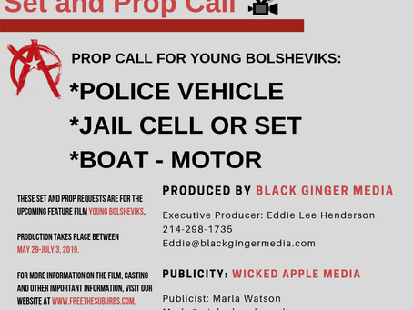 SET AND PROP CALL - Black Ginger Media