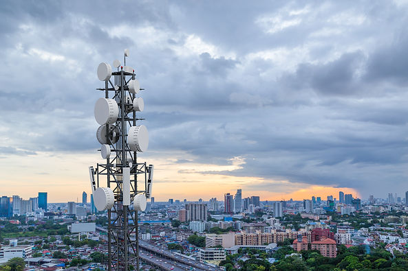Telecommunication tower with 5G cellular