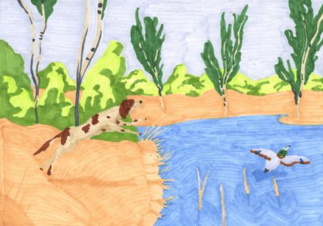 Chasse en étang
