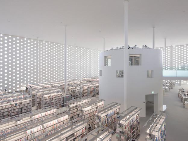 Kanazawa Umimirai Library.