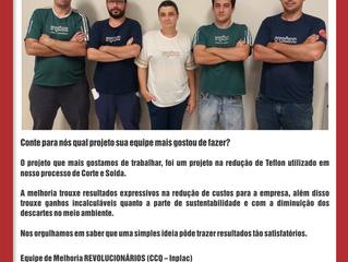 Depoimento da equipe Revolucionários da empresa Inplac