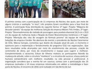 Encontro Catarinense de CCQ reúne 500 circulistas em Blumenau|SC