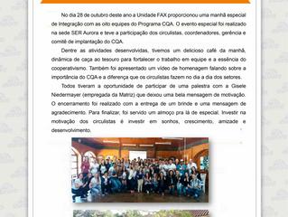 Integração de equipes da empresa Aurora