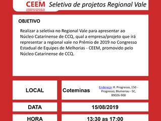 Seletiva do CEEM – Regional Vale