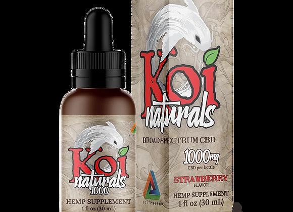 Koi Naturals Hemp Extract CBD Oil Tincture | Strawberry Flavored (30 mL)