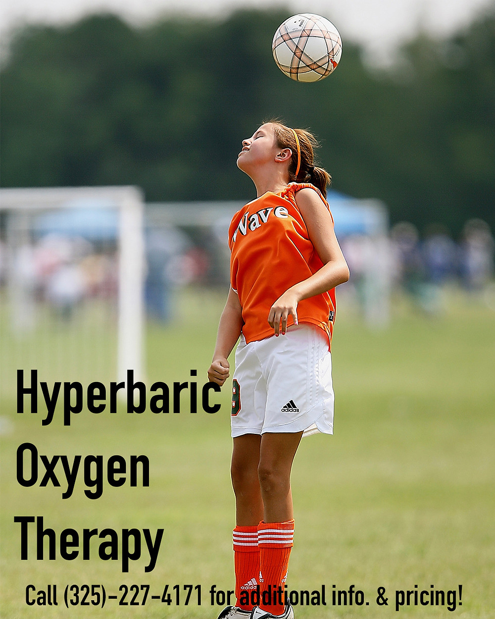 Young Athlete Promoting The Benefits Of Hyperbaric Oxygen Therapy in Young Athletes.