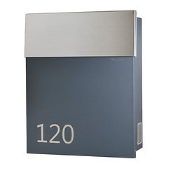 Modern mailbox with stainless steel flap