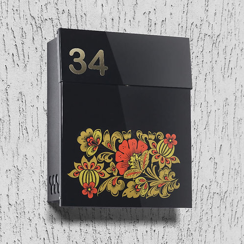 Mailbox with Russian Flowers