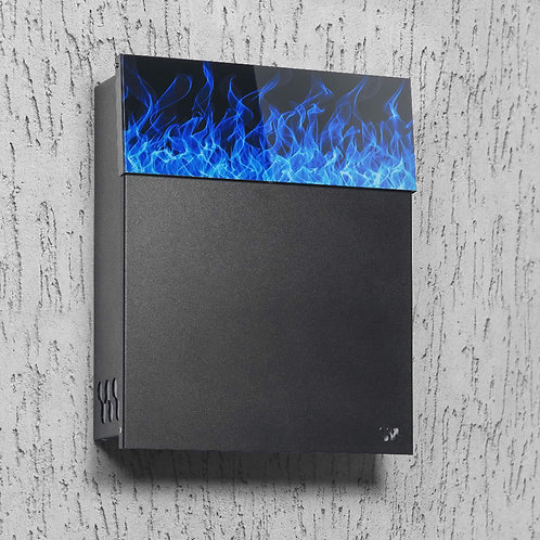 Modern Mailbox with Blue Flame