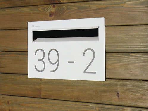 Fence modern mailbox with numbers