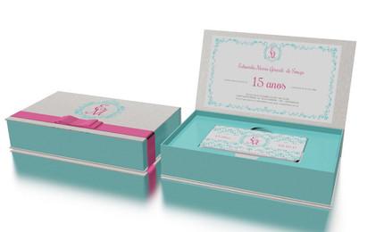 Convite caixa para festa de 15 Anos