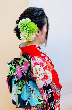 成人式着物、和装ヘアセット・ヘアアレンジ|プライベートサロンwith_n|野々市市下林