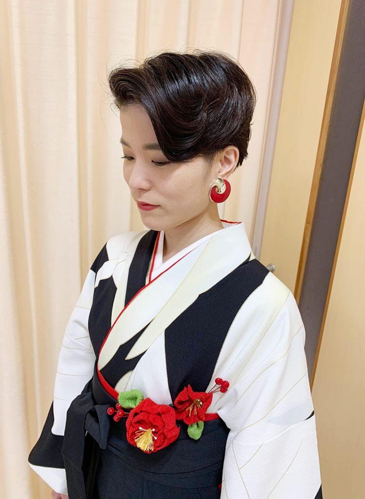卒業式 袴 和装着付け プライベートサロンwith-n