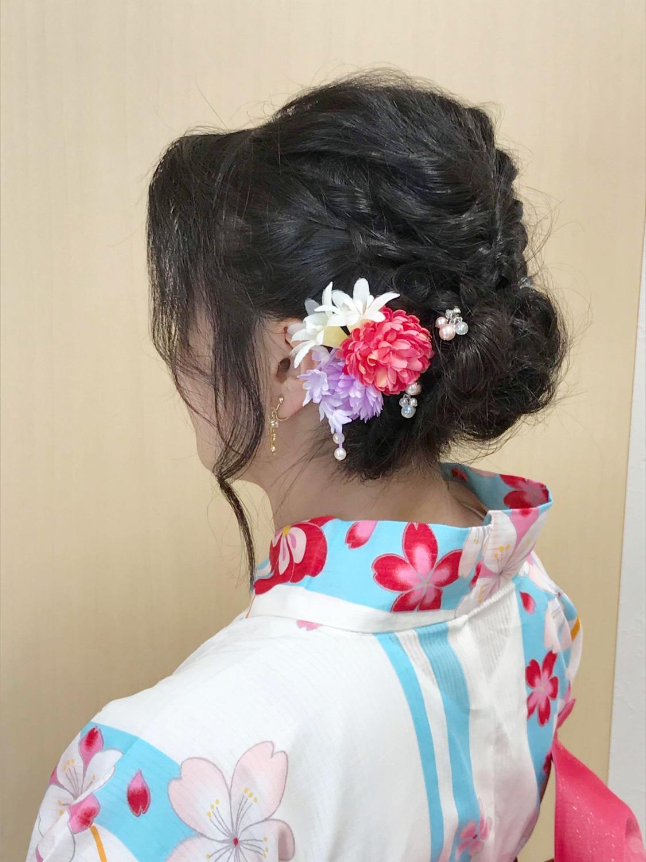 浴衣ヘアセット・ヘアアレンジ プライベートサロンwith-n