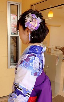 卒業式袴、和装ヘアセット・ヘアアレンジ|プライベートサロンwith_n|野々市市下林