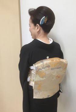 結婚式 黒留袖 和装 着付け ヘアセット プライベートサロンwith-n 野々市