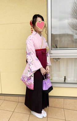 卒業式 袴 和装着付け ヘアセット プライベートサロンwith-n 野々市