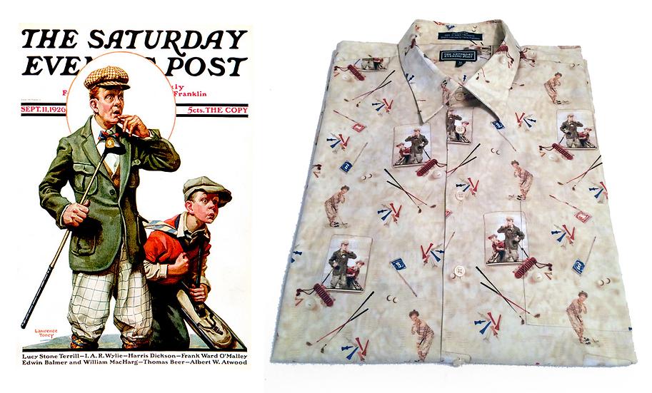 Saturday Evening Post Vintage 1920s Artwork Edition Cotton Button Down