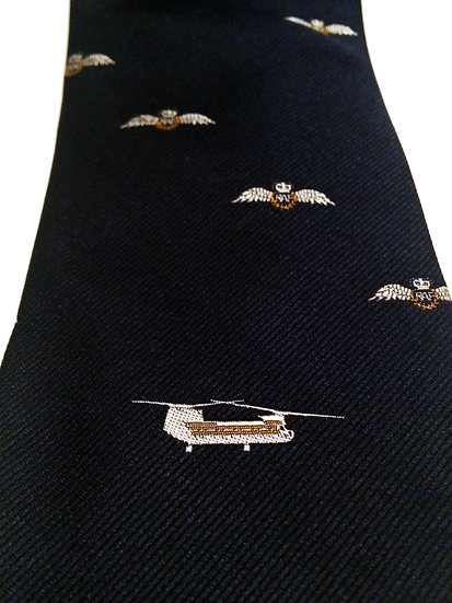 Givenchy Paris RAF Royal Air Force Wings Helicopter Gentleman's Silk Tie