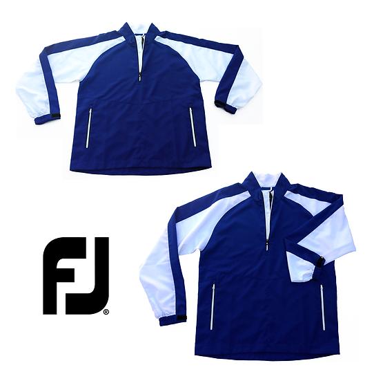 FOOTJOY Colorblock 1/4 Zip Track Jacket Blue White Pockets