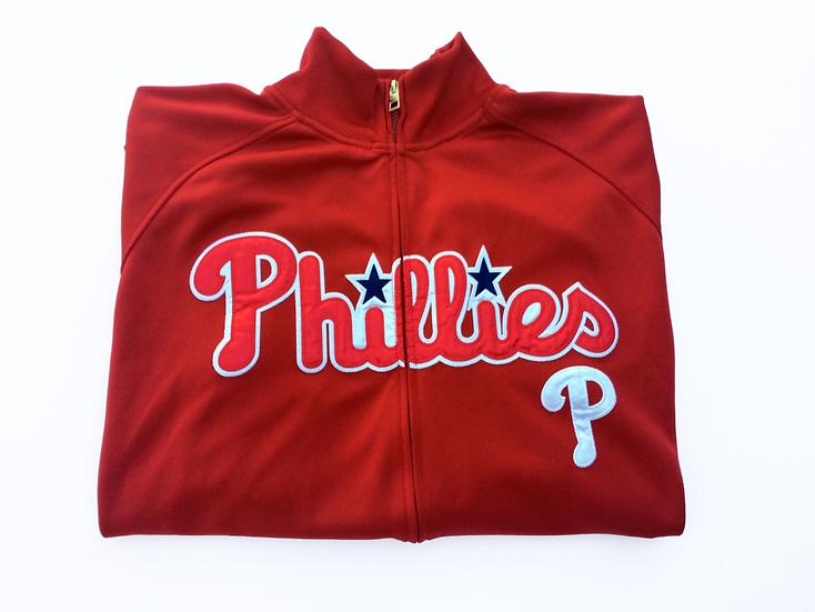 Nike MLB Philadelphia Phillies Track Jacket Embroidered Logo