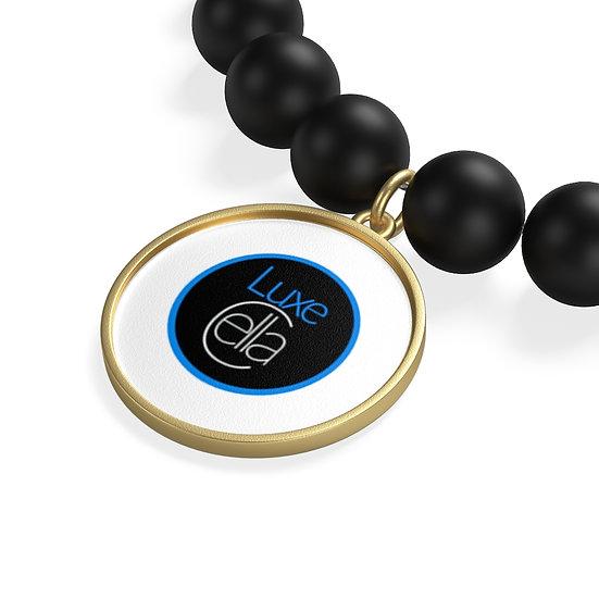 LuxeCella Evil Eye Matte Onyx Bracelet