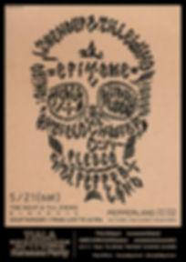 skull、calligraphy