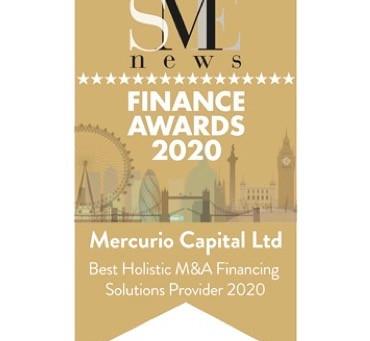"SME News Awards: Mercurio Capital wins ""Best Holistic M&A Financing Solutions Provider 2020"""