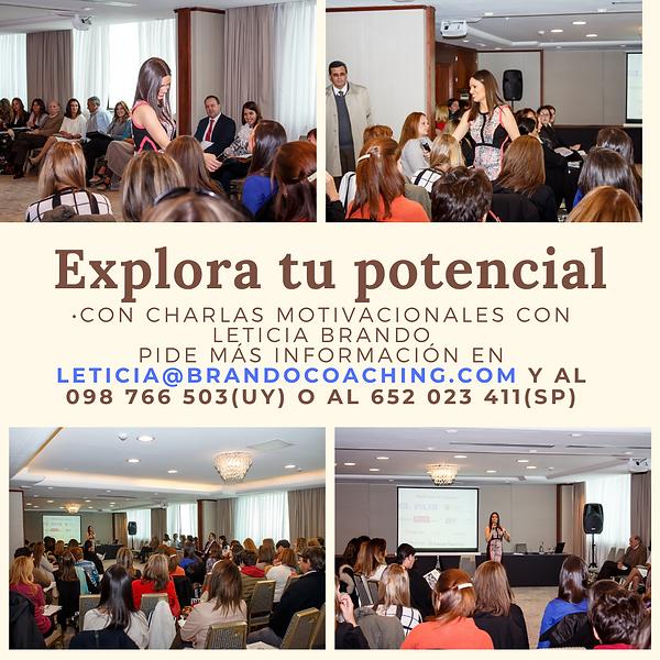 Charlas motivacionales con Leticia Brand