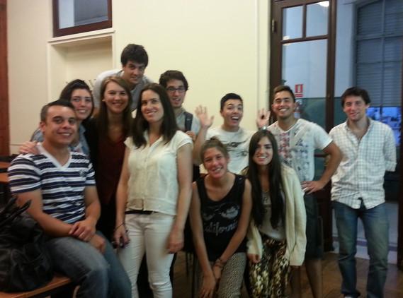 Con alumnos de Facultad de Empresariales en UCU