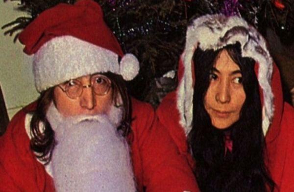 John Lennon y Yoko Ono en Navidad