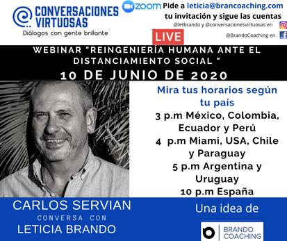 Carlos Servian estuvo el 10 de junio de 2020
